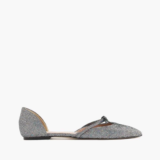 Sloan glitter d'Orsay flats with mini bow