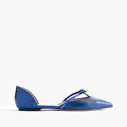 Collection Sloan snakeskin d'Orsay flats with mini bow
