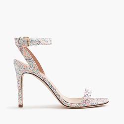 Glitter skinny-strap sandals