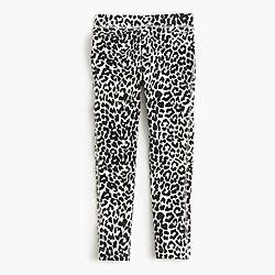 Girls' cozy everyday leggings in snow leopard