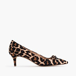 Dulci kitten-heel pumps with bow