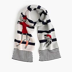 Girls' Olive & Izzy striped scarf