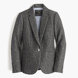 Petite Campbell blazer in sparkle Donegal wool