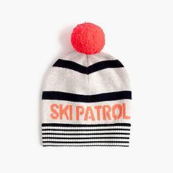 Girls' ski patrol beanie with pom-pom