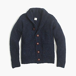 Boys' Donegal wool shawl cardigan