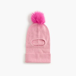 Girls' winter beanie with pom-pom