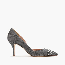 Collection Colette jeweled glitter pumps