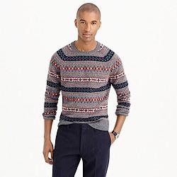 Lambswool Fair Isle sweater in grey
