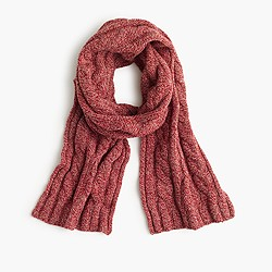 Lambswool cable scarf