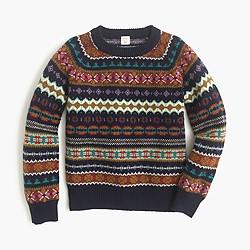 Boys' classic Fair Isle sweater in lambswool