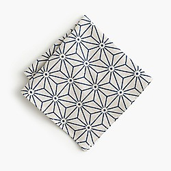 Kiriko™ Japanese cotton white asanoha pocket square
