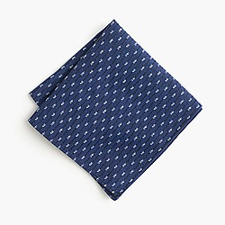 Kiriko™ Japanese cotton kasuri dash pocket square