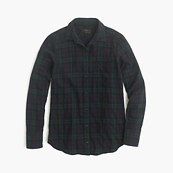 Boy shirt in Black Watch flannel