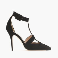 Roxie suede T-strap pumps