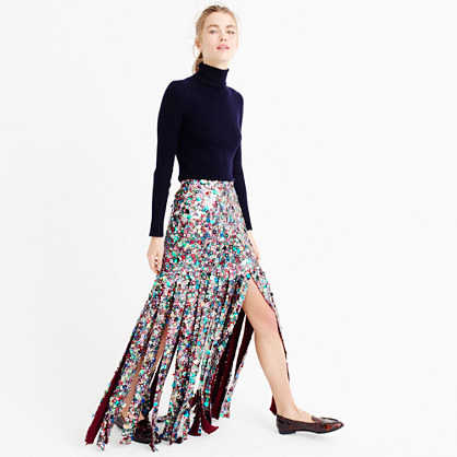 Collection sequin maxi skirt