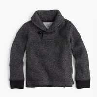 Boys' Summit fleece shawl-collar sweatshirt