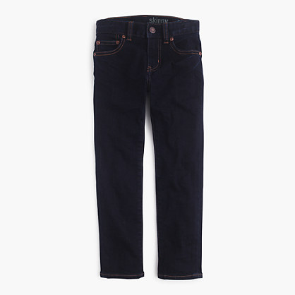 Boys's stretch skinny jean in wrinkle rinse wash