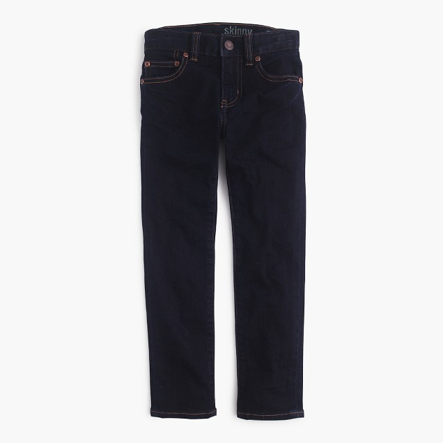 Boys's wrinkle rinse wash jean in stretch skinny fit