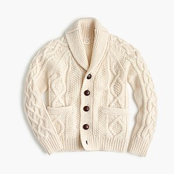Kids' cable cardigan sweater