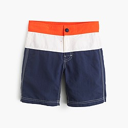 Kids' striped board short