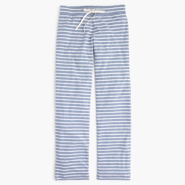 Petite dreamy cotton pant in stripe