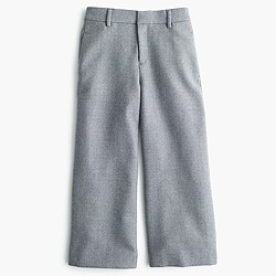 Double-serge wool culotte