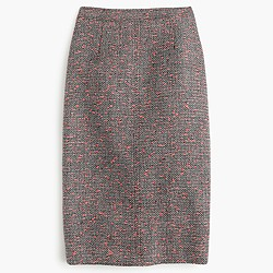 Neon tweed pencil skirt