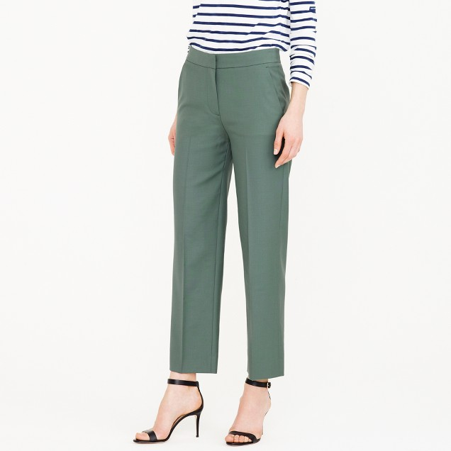 Petite patio pant in Super 120s wool