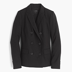 Petite double-breasted blazer in Super 120s wool