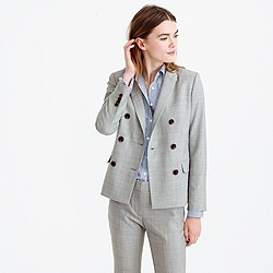 Double-breasted blazer in Super 120s wool
