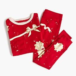 Girls' pajama set in ribbons and bows