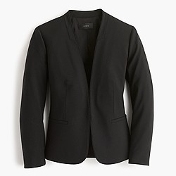 Tall collarless blazer in Italian stretch wool
