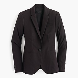 Petite Campbell blazer in bi-stretch cotton