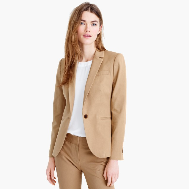 Tall Campbell blazer in two-way stretch cotton