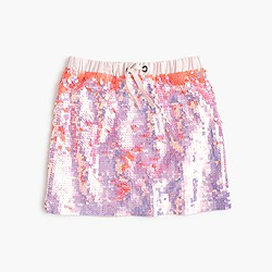 Girls' double-sided sequin skirt