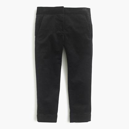 Girls' velvet pant