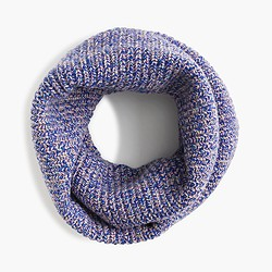 Girls' shimmery wool infinity scarf