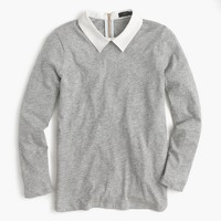 Three-quarter-sleeve collar T-shirt