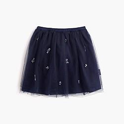 Girls' jeweled cluster tulle skirt