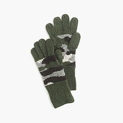 Kids' camo gloves