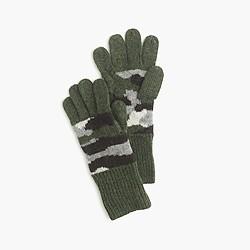Kids' camo gloves