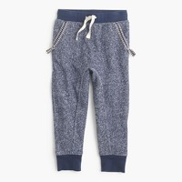 Girls' lined sweatpant in marled cotton