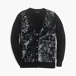 Sequin cardigan sweater
