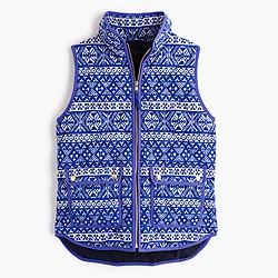 Petite excursion vest in Fair Isle