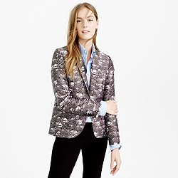 Campbell blazer in feather print