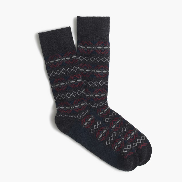 Fair Isle performance socks