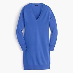 Collection Italian cashmere V-neck dress