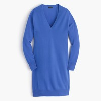 Collection Italian cashmere V-neck dress