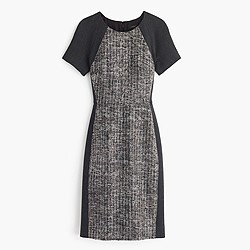 Italian tweed colorblock dress