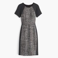 Italian tweed colorblock dress